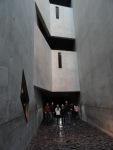 5 - Group in Liebeskinds Memory Void, experiencing Menashe Kadishmans Schalechet installation, Judisches Museum Berlin