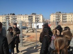 Students meet the project architect from the firm Ros-Sutrias