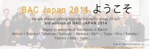 BAC Japan 2014 welcome