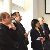 BAC celebration (Vicente Guallart, Chief architect of Barcelona City Council, Octavio Mestre, Architect, Akiko Sagano, Cónsul General Adjunt of Consulate General of Japan Barcelona, William Pelham)