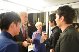 BAC celebration (Robert H. Jones, Jeryl C. Jones, Jean Craiu, BAC Japan students)