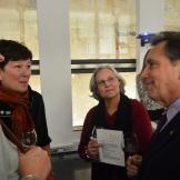 BAC celebration (Rick Goodstein, Dean College of Architecture, Arts and Humanities. Cissie Goodstein, Kate Schwennsen, Rachelle Mickel)