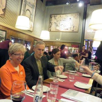 day 1_lunch at Casa Alfonso (Robert H. Jones, Jeryl C. Jones, Clemson Barcelona graduate student Alexsandra Williams) _ photo by William Pelham