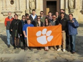 day 2_The Royal Abbey of Santa Maria de Poblet Cistercian monastery visit (Clemson Committee together with Clemson Barcelona students, Mercè Berengué, Zana Bosnic)_ photo by William Pelham