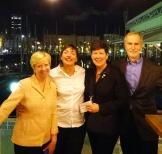 day 3_at Club Maritim cocktail (Robert H. Jones, Jeryl C. Jones, Kate Schwennsen, Mercè Berengué)