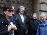 day 3_Gothic Quarter walk (Kate Schwennsen, Charlie Mickel, Stephen White, Marion White, Jeryl C. Jones)