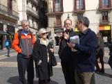 day 3_Gothic Quarter walk (Robert H. Jones, Rachelle Mickel, Charlie Mickel, Miguel Roldán)