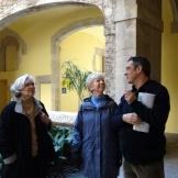 day 3_Gothic Quarter walk (Jeryl C. Jones, Rachelle Mickel, Miguel Roldán)