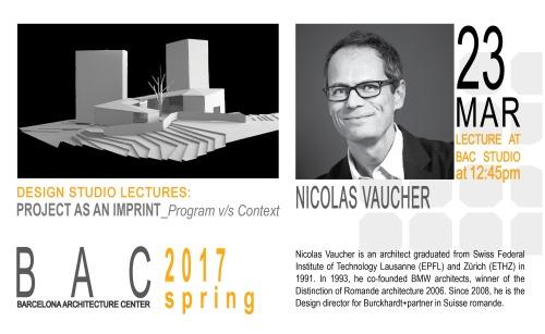 Nicolas Vaucher s17 lecture series